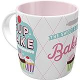 Nostalgic-Art 43047 Cupcake Bakery, Retro, Kaffee-Becher, Geschenk, Vintage Geschirr Tasse, Keramik, Bunt, 8.5 x 13 x 9 cm