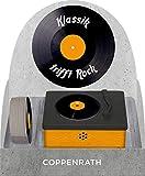 Vintage-Plattenspieler - Klassik trifft Rock: Vintage-Plattenspieler mit 10 Mini-Schallplatten