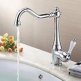Auralum Küchenarmatur Wasserhahn Küche, Retro Wasserhahn Bad Mischbatterie für Küchenspüle und Waschbecken