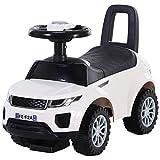 HOMCOM Kinderfahrzeug Lauflernhilfe mit Hupe Stauraum Rutschauto PP Weiß 62 x 28 x 41,5 cm