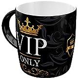 Nostalgic-Art Retro Kaffee-Becher - Achtung - VIP Only, Lustige große Retro Tasse mit Spruch, Geschenk-Idee für VIP's , 330 ml