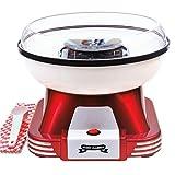 Gadgy ® Zuckerwattemaschine für Zuhause | Retro Cotton Candy Machine | mit Zucker oder Zuckerfreie Harte Süßigkeiten Bonbons zu Benutzen | 500W Rot Weiß