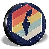 Hokdny Radreifenabdeckungen, Wasserdichter Ersatzreifenschutz,Retro Israel Map Reifenabdeckungen Auto Auto Ersatzreifen Reifenabdeckung