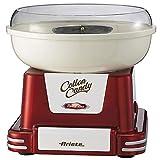 Ariete 2971 Cotton Candy Zuckerwatte-Maschine, verwendbar für Kristallzucker und Kandis, 450 W, Kegel im Lieferumfang enthalten, rot