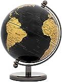 BRUBAKER Designer Globus Dark Planet Edelstahl - Schwarz Gold