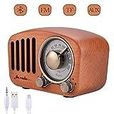 Handgemacht Walnuholz Tragbar Bluetooth Lautsprecher Qoosea Bluetooth 4.2 Drahtloser Lautsprecher mit Radio FM Natur Holz Bluetooth Lautsprechers mit Bass und Subwoofer