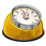 SECRET DE GOURMET Küche Timer Retro Vintage Design Magnetisch Edelstahl 4 Farben-Sortiert bis 60 Minuten (Gelb)