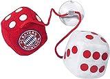 FC Bayern München Autowürfel - Plüschwürfel mit Saugnapf FCB plus gratis Aufkleber forever München