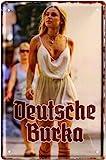 Deutsche Burka Lady Pin Up Girl 20x30 cm Blechschild 836