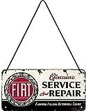 Nostalgic-Art 28045 Retro Hängeschild Fiat – Service & Repair – Geschenk-Idee für Auto-Zubehör Fans, aus Metall, Vintage-Design zur Dekoration