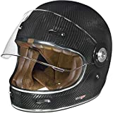 RT-825 Carbon Integralhelm Motorradhelm Chopper Integral Retro Helm rueger, Größe:L (59-60), Farbe:Carbon