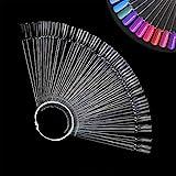 Ealicere 100 Stück Nagellack Display Ringsticks Nagel Salon Übungen Display Nail Tips für Display und Praxis (Transparent)