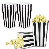 VAINECHAY 12 Stücke Candy Tüten Partytüten Set Popcorn Boxes Popcorn Tüten KleinGeschenktüten Weihnachten Party Geburtstag Hochzeit Geschenk Schwarz