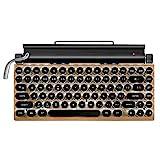 LRWEY Spieleinrichtung Drahtlose mechanische Bluetooth-Tastaturen Dot Retro Schreibmaschinentastatur (Einheitsgröße, wie Gezeigt)