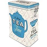 Nostalgic-Art Retro Teedose Home & Country – Tea – Geschenk-Idee für Tee-Liebhaber, Blech-Dose mit Aromadeckel, Vintage Design, 1,3 l