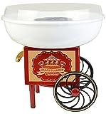 Gadgy ® Zuckerwattemaschine für Zuhause | Cotton Candy Machine | für Zucker oder Harte Süßigkeiten | Zuckerwattegerät für Kindergeburtstag | Rot Weiß
