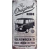 Nostalgic-Art Volkswagen Retro Blechschild - VW Bulli T1 - Original Ride, Blechschild als Vintage VW Bus Geschenk-Idee, zur Dekoration, 25 x 50 cm