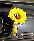 Bling My Bug Auto-Vase – Sonnenblumengelbe Gläser mit Universal-Vase