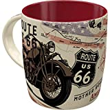 Nostalgic-Art Retro Kaffee-Becher - US Highways - Route 66 Bike Map, Große Retro Tasse, Vintage Geschenk-Idee für Route 66 Fans, 330 ml