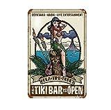 Generisch Blechschild 20x30 cm gewölbt Retro Tiki Bar Geschenk Magnet-Metall-Schild mit Sprüchen Vintage lustige Türschilder Bier Nostalgie Schild Deko Bar-Schild Beer Motiv