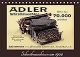 Schreibmaschinen um 1900 (Tischkalender 2022 DIN A5 quer)