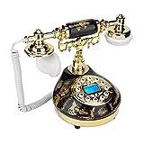 Antikes Telefon, klassischer europäischer Retro Vintage kabelgebundener Telefon-Support FSK und DTMF Anrufer-ID für Heimtextilien, Geschenke für Freunde