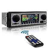 Aigoss Autoradio mit Bluetooth Freisprecheinrichtung, USB/SD/AUX / MP3-Media-Player, 4 X 60 Watt Schwarz Autoradio Drahtlose Fernbedienung Enthalten