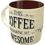 Nostalgic-Art Retro Kaffee-Becher - Word Up - Awesome Coffee, Lustige große Retro Tasse mit Spruch, Geschenk-Idee für Kaffee-Liebhaber, 330 ml