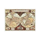 CROSYO 1 stück 150x100cm Vintage Globus Alte Welt Karte Vlies braun Große Poster Weltkarte Wandaufkleber Home Wand Malerei Dekor