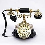 LIYG Weinlesetelefon Europäisches Wählscheibentelefon Retro-Telefon Festnetz