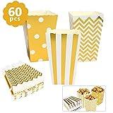 BUYGOO 60PCS Popcorntüten Papier Popcorn Boxen - Klein Popcorn Behälter Party Candy Container behandeln Kartons für Sweet, Candy, Snack, Food Dekorationen, Party Supplies Boxen