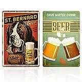 Vintage Bar Schilder,2 Stück Bar Dekoration Malerei, Party RoomBackground Wand Raumdekoration/Vintage Zinn Wandschild, dekorativ für Cafe Bar Pub, Bar Hintergrund Wanddekoration, 20CMx30CM