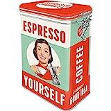 Nostalgic-Art Retro Kaffeedose Espresso Yourself – Geschenk-Idee für Kaffee-Liebhaber, Blech-Dose mit Aromadeckel, Vintage Design, 1,3 l