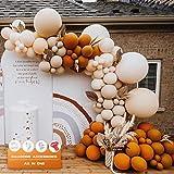 MMTX Retro Orange Ballon Girlande Set, Luftballon Girlande Doppelschichten Ballons Party Deko für Mädchen Junge Frauen Geburtstag Baby Shower Bachelorette Hochzeit Halloween Dekorationen Mehrweg
