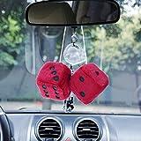 VORCOOL Roter hängender Würfel-Charme-Auto-Auto-Rückspiegel, der Zubehör für Auto-Dekoration hängt
