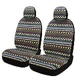 SOBONITO Sitzbezüge für Auto Einzelsitzbezug vordere Schonbezüge Sitzbezug Schoner,Böhme Stil,2er Set(FR-B)