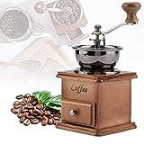Kaffeemühle/Kaffeemühle Handkaffeemühle holz, Acogedor Manuelle Kaffeemühle - einstellbare Gratmühle für das Präzisionsbrauen, tragbare hölzerne Handkaffeemühle für Reisen oder Camping
