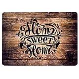 Stilingo Fußmatte Innenbereich Fußabtreter aussen Fußmatte Home Sweet Home Spruch Schmutzfangmatte Eingangsbereich Vorleger Matte Haustür 70x50 cm Tür-Matte