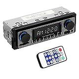 Yolispa Autoradio mit Bluetooth und USB/SD/AUX-Anschluss, 4 x 60 W Auto Audio FM Radio, digitaler MP3-Player, Freisprechfunktion mit Fernbedienung