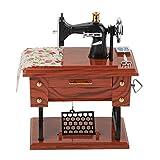 Vintage Music Box Mini Nähmaschine Nähen mechanische Uhrwerk Music Box Geschenk Tischdekoration Spielzeug Geschenk für Kinder Kinder