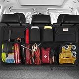 SURDOCA kofferraum organizer auto - 3rd Gen [doppelte Kapazität] organizer auto, ausgestattet mit [Starkes elastisches Netz & 4 Zauberstabstruktur],kofferraumtasche,autotasche kofferraumtasche