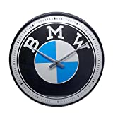 Nostalgic-Art Retro Wanduhr BMW – Logo – Geschenk-Idee für Auto Zubehör Fans, Große Küchenuhr, Vintage-Design zur Dekoration, 31 cm