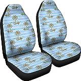 Not applicable Insel Surfer paar Grunge Retro Hawaii Micro Fiber Autositzbezüge (blau)