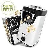 Liebfeld - Popcornmaschine für Zuhause I Popcorn Maker Machine [inkl. Pop Corn Guide] I Popcornmaker ohne Fett & Öl I Popcorn Popper