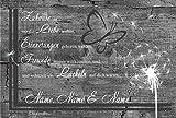 Eule-Design.de Fußmatte Motiv Vintage Lustig Landhaus Shabby Retro Schmutzfangmatte als Geschenk (60x40, AA-Pusteblume grau)