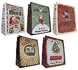 diverse 10 Geschenktüten Weihnachten 32x26x13 Weihnachtstüten Vintage Retro 22-0408-3 Weihnachtstaschen Tüten