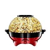 Gadgy ® Popcornmaschine l 800W Popcorn Maker mit Antihaftbeschichtung und Abnehmbares Heizfläche l Still und Schnell l Inhalt 5 Liter