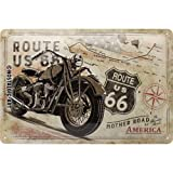 Nostalgic-Art 22279 Route 66 Bike Map | Retro Vintage-Schild | Wand-Dekoration | Metall Blechschild 20x30 cm, Bunt, 20 x 30 x 0.2 cm