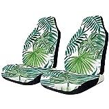 Alice Eva Autositzbezüge Retro Tropical Green Palmblätter Art Pattern Cushion Bucket Seats Cover