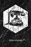 TERMINPLANER: Retro Liebhaber Kalender Retro Objekt Terminkalender - Nostalgietelefon Wochenplaner Wählscheibentelefon Wochenplanung Vintage Taschenkalender Oldschool To-Do Liste Termine